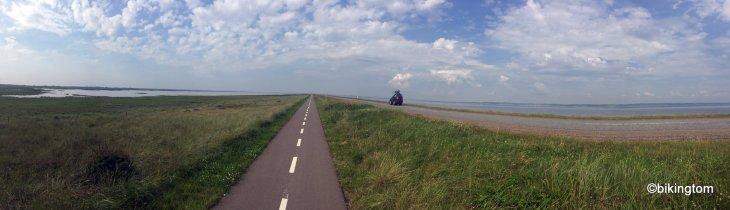 bikingtom am Nordseeküstenradweg in Dänemark