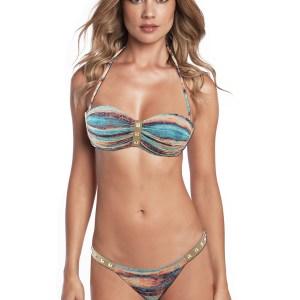 Bandeau Bikini, mit modischen Motiven - Heat Rock