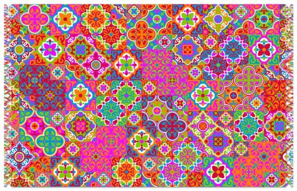Mehrfarbiger Pareo mit Mosaik Arabesken