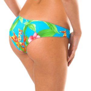 Blau geblümtes Brasil Bikinihöschen - Sexy