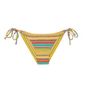 Scharfes brasilianisches Bikini Höschen bunt gestreift - Rio de Sol