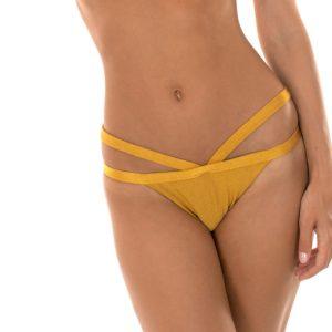 Brasilianischer Bikinislip mit doppelten Bändern - Calcinha Gold Triangulo
