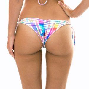 Sexy Scrunch Bikini Tanga kariertes Muster - Calcinha Plaid Frufru