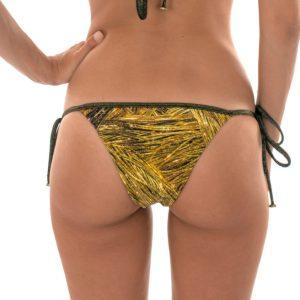 Goldgemustertes Bikinihöschen mit Lurexschnüre - Rio de Sol