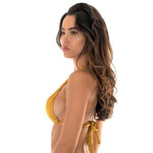 Verstellbares sexy Bikini Triangel-Top mit Faltenoptik - Rio de Sol