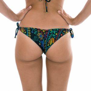 Buntgemusterte Bikinihose mit seitliche Ringe - Rio de Sol