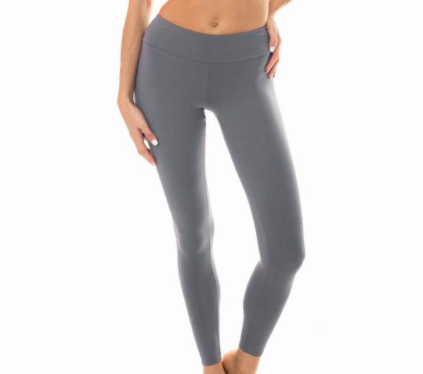 Uni graue Fitness Leggings - Leg Nz Gris