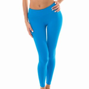 Uni blaue Fitness Leggings - Leg Nz Resort