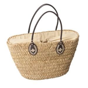 Strandkorb-Tasche Strohfarben - Natural Straw Bag