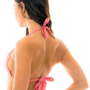 Sexy Rosafarbenes verstellbares Triangel-Top