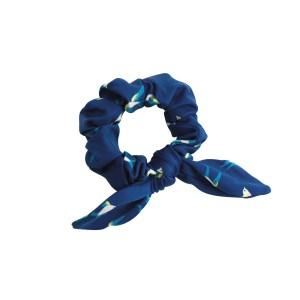 Marineblauer Zopfgummi mit Vogelmotiv