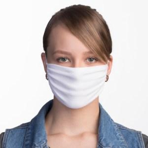 Verstellbare Mehrweg Textil Atemschutzmaske, weiß