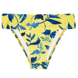Gelbe Bikinihihose mit blauer Musterung - Bottom Lemon Flower Cos Comfort