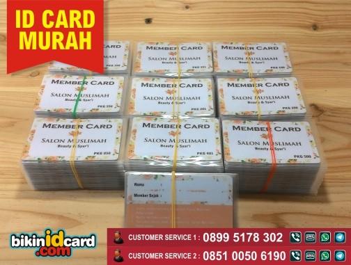Contoh id card pre printed murah