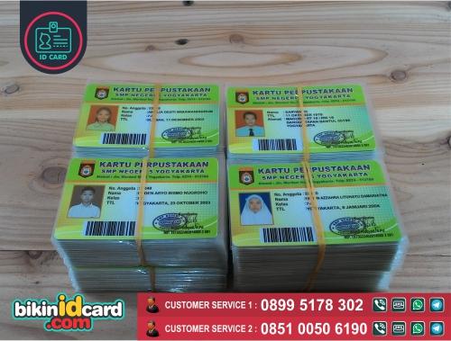 Harga Cetak Kartu Perpustakaan Murah - Contoh kartu perpustakaan siswa