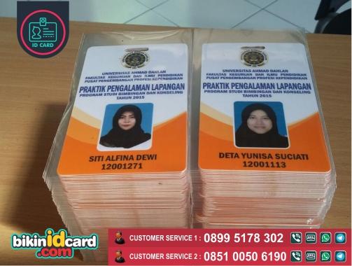 HARGA CETAK ID CARD MAHASISWA MURAH - Contoh kartu tanda pengenal mahasiswa