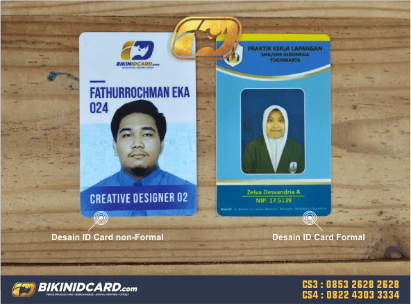 desain id card formal non formal