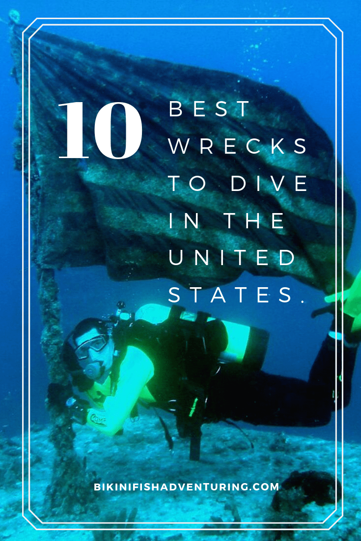 10  Best Wrecks to dive in the United States