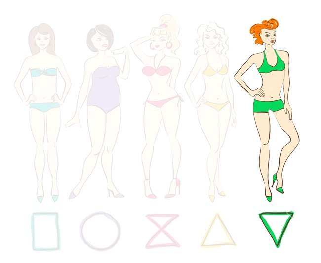 forme maillot corps morphologie triangle inverse