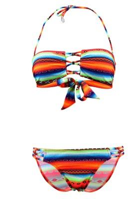 Maillot de bain Lolita Angels 2 Pièces Bandeau Rio Charm Acapulco Psycho Multicolore - Couleurs - MULTICOLORE