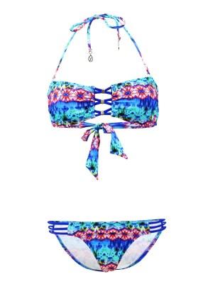 Maillot de bain Lolita Angels 2 Pièces Bandeau Rio Charm Pampam Blu Multicolore - Couleurs - MULTICOLORE