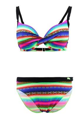 Maillot de bain Lolita Angels 2 Pièces Bonnet E Playa Vogue Bandeau Acapulco Smile Multicolore - Couleurs - MULTICOLORE