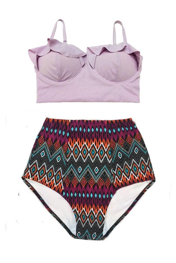 Handmade Swimwear Women Womens Bikini Two Piece Midkini