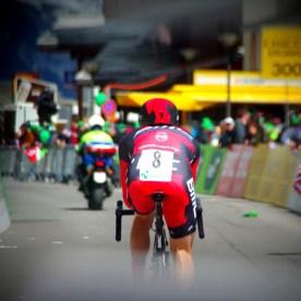 BMC rider Brent Bookwalter during final time trial at Tour de Romandie in Crans-Montana, Switzerland, april 29 2012.