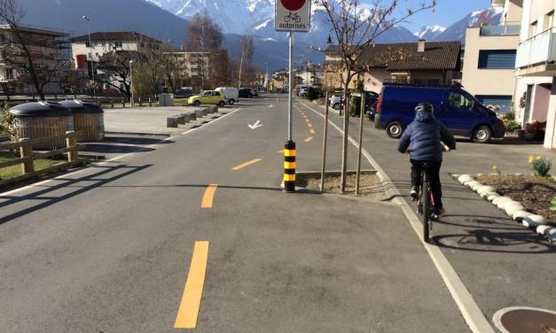 A l'école à vélo…