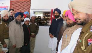 Bikram Singh Majithia inaugurating state-of-the-art building of Mattewal Police Station (2)
