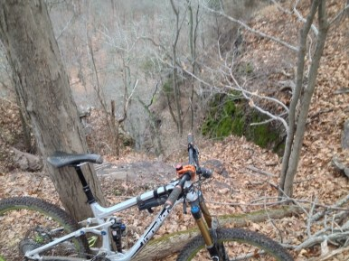 "Stover has some great technical trails and awesome views of the Tohickon Creek.Wet rocks and roots next to sheer cliffs can add some ""OH SHIT"" moments."