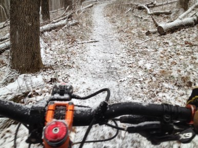 A little dusting of snow made the ride even more scenic...