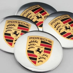 porsche fälgemblem hjulnav emblem