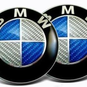 blå kolfiber emblem till bmw