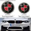 bmw röd svart emblem