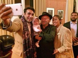 @georgegalloway With @BBhuttoZardari at Oxford Union launch of new book on my friend and comrade Benazir Bhutto May God preserve him