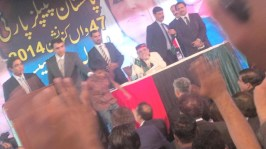 @jahanarawattoo The young jiyala coming off from stage after meeting Co chairman @AAliZardari #PPPFoundationDay