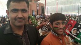 @rabnawazbaloch Me with true jiyala In worker convention #PPPFoundationDay