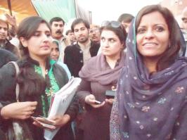 @ShaiziCheema With dr @ShahNafisa and sen @RubinaKhalid1 #PPPFoundationDay #Lahore #ppp Jeay jeay jeay Bhutto Benazir @PPPRights