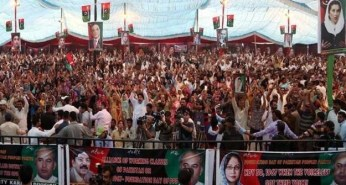 @bonbondude #PPPFoundationDay the crowd is swelling with every moment that departs A true depiction of #Bhuttoism #PPPHawks