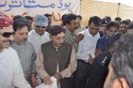 @BilawalHouseKhi CM #Sindh visits Ulra Jagir Band to inspect & monitor the flood situation & relief activities for affected people 4