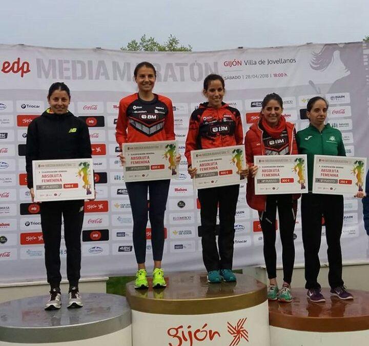 El BM Bilbao domina el medio maratón de Gijón