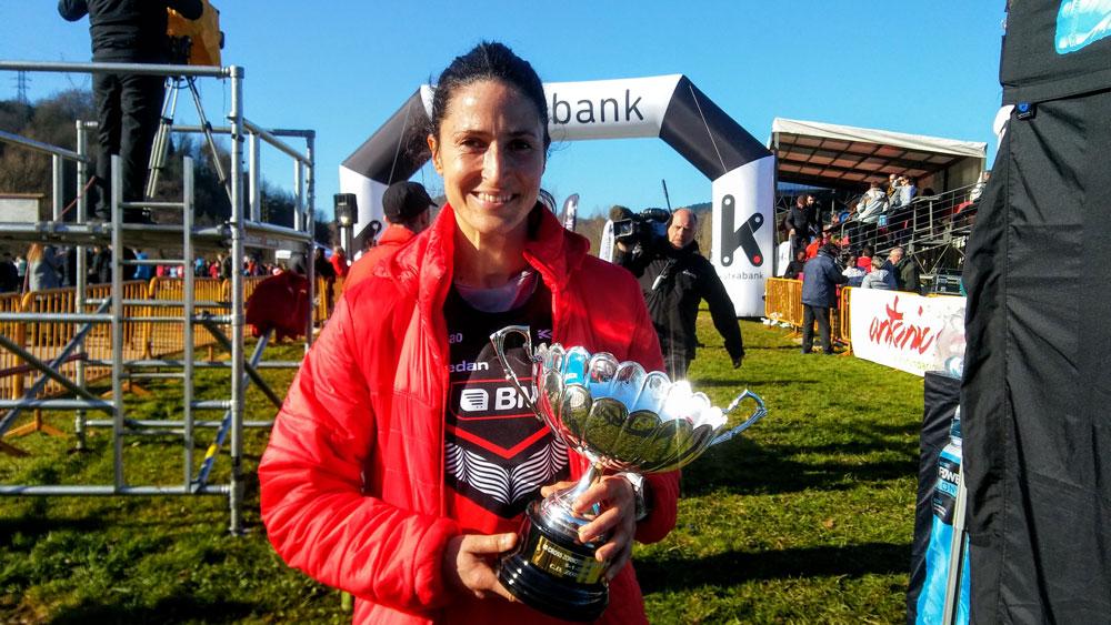 Elena Loyo, la mejor atleta vasca en Zornotza