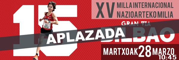 Suspensión temporal de la Milla Internacional de Bilbao 2020