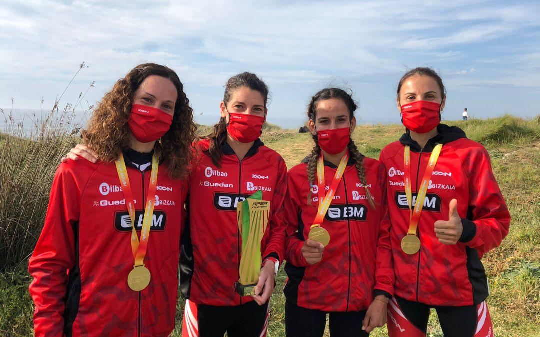 El BM Bilbao, campeonas de España de Trail