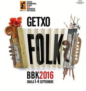 Cartel Getxo Folk 2016.