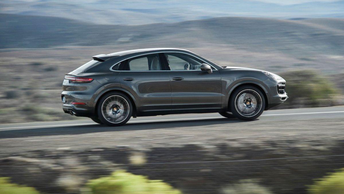 Porsche Cayenne Coupé dynamisk billede