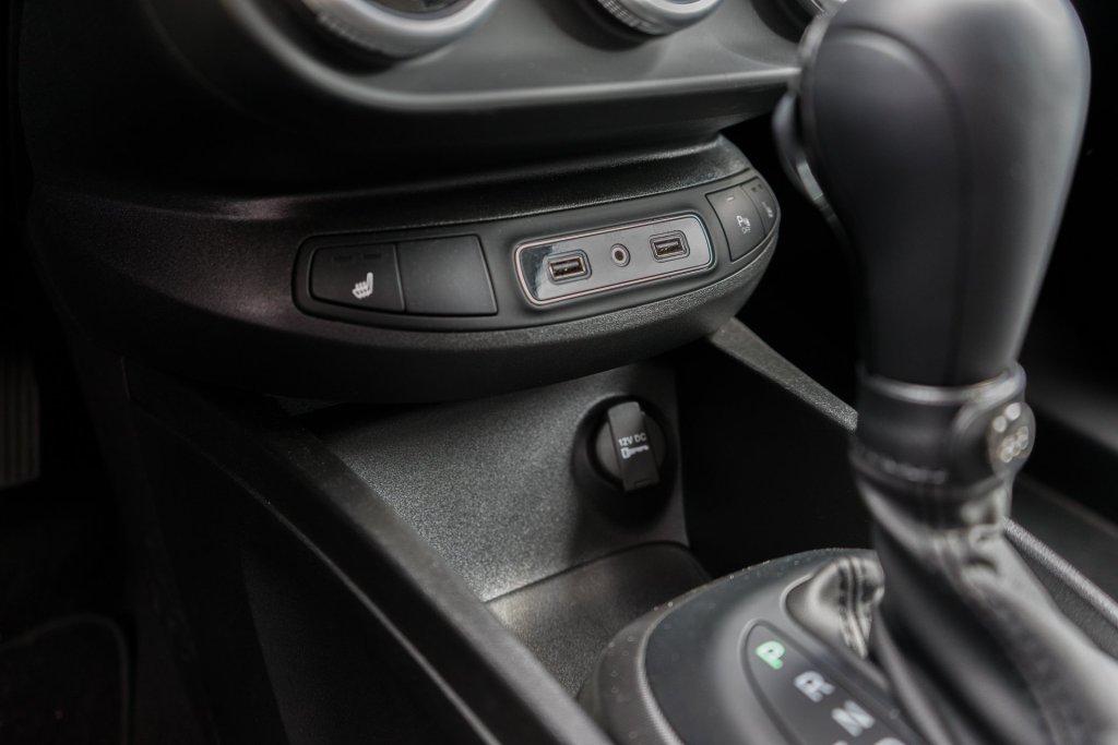 Fiat 500X City Cross midterkonsol opbevaring