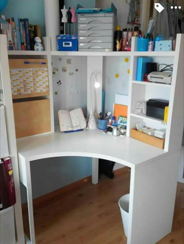 Schreibtisch Ecke Weiß 2021