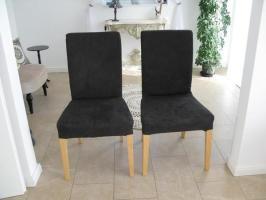 2x Ikea Henriksdal Stühle edel Bezug schwarz Wild Leder ...